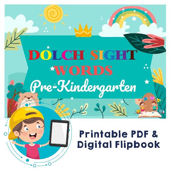 dolch sight words pre-kindergarten