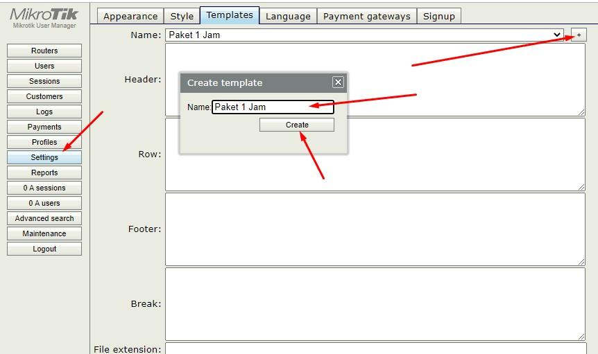 ini cara merubah tampilan template voucher pada userman mikrotik