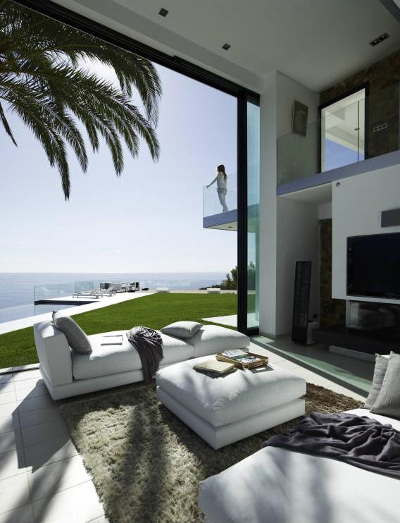Picture of living room and the view