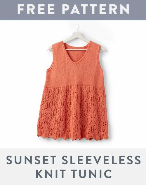 Sunset Sleeveless Knit Tunic - Free Pattern