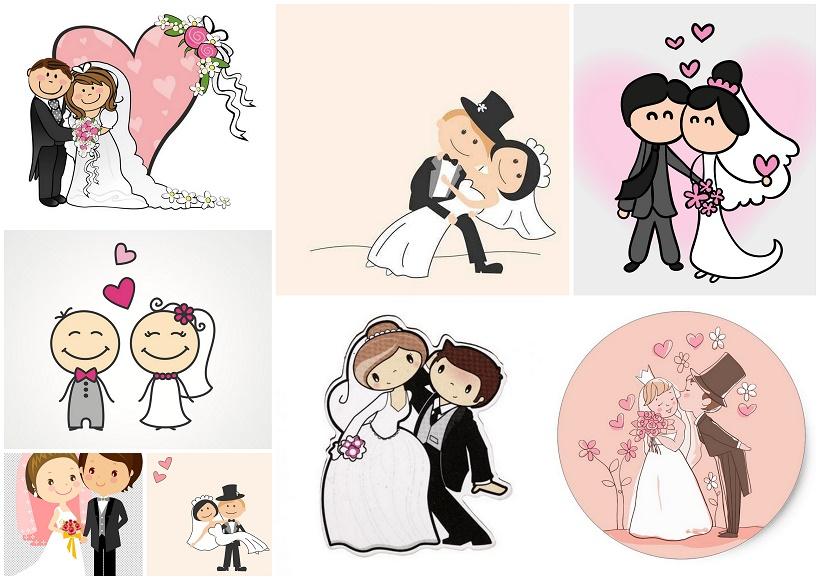 im genes de novios en caricatura oh my bodas