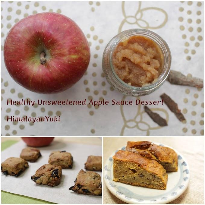 りんごソースで作るヘルシーデザート