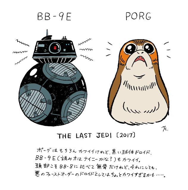 ポーグ、BB-9E、スノーク