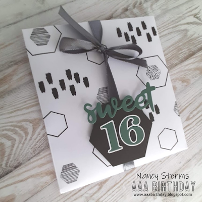 Sweet 16 gift card holder for a boy