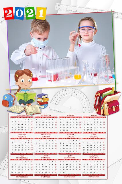 Calendario 2021 bimbi a foglio singolo