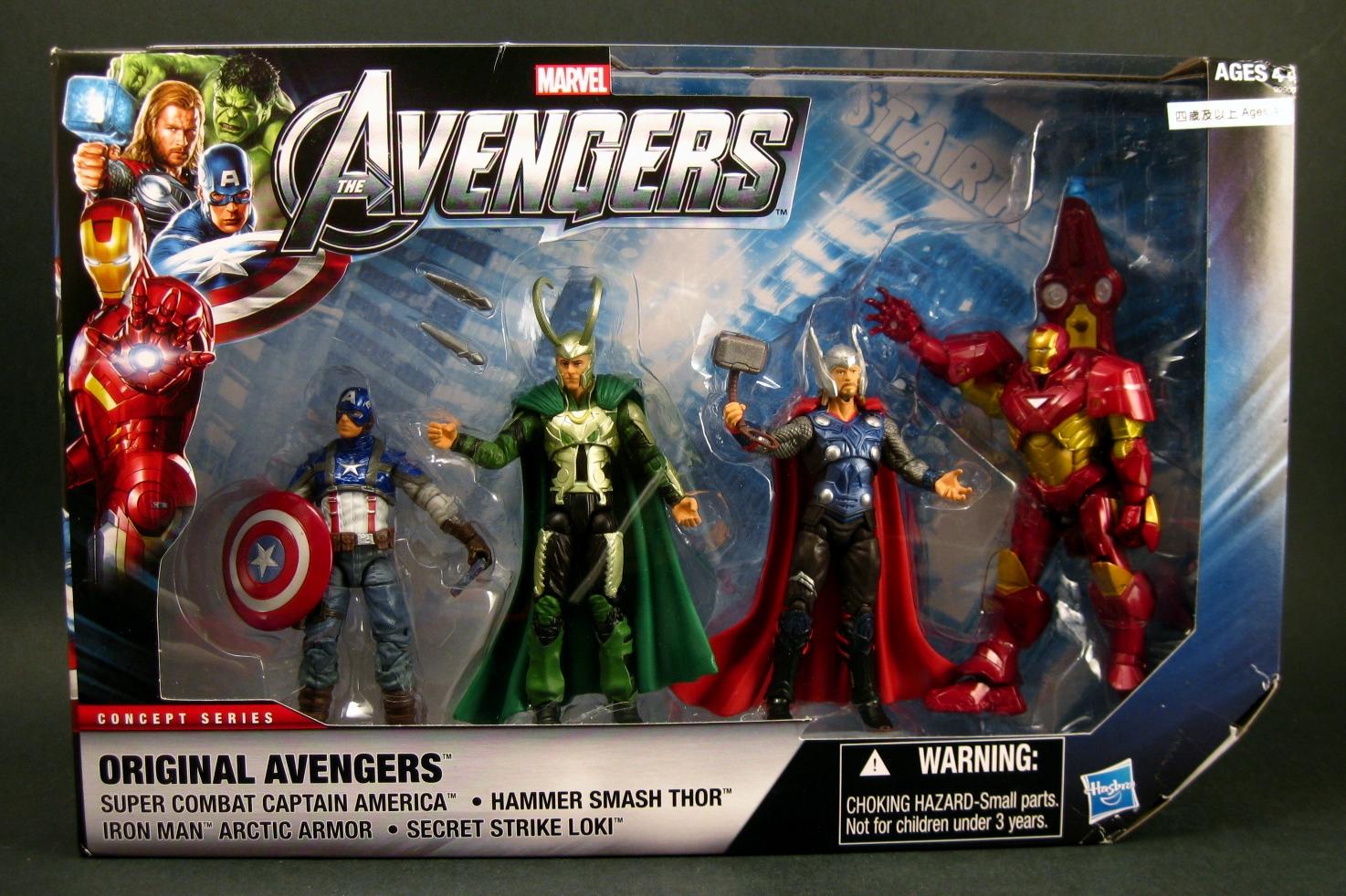 chase variant the avengers original avengers 3 75 4 pack