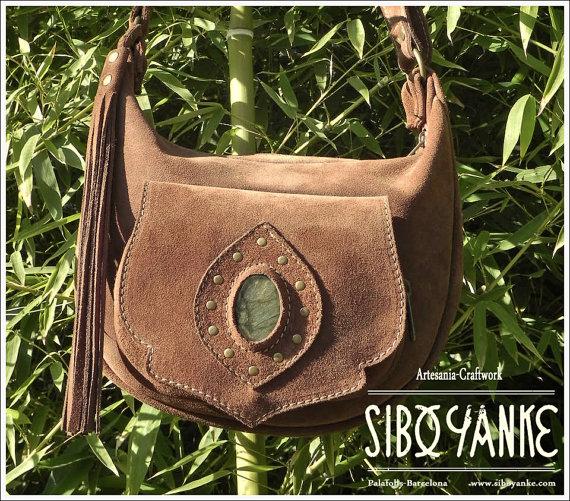 Leather Moon Bag, Boho Bag, Gypsy Bag, Utility belts.
