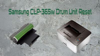 Samsung CLP-365w Drum Unit Reset