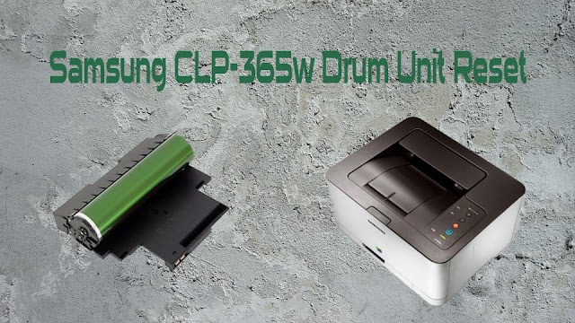 Samsung CLP-365w Drum Unit Reset