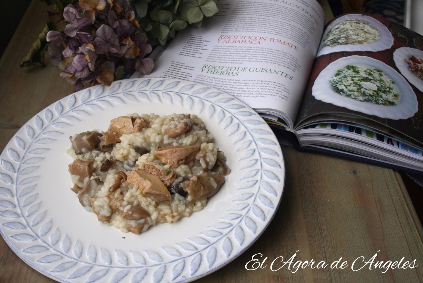 El gora de ngeles risotto con setas y foie - Rissotto de setas ...