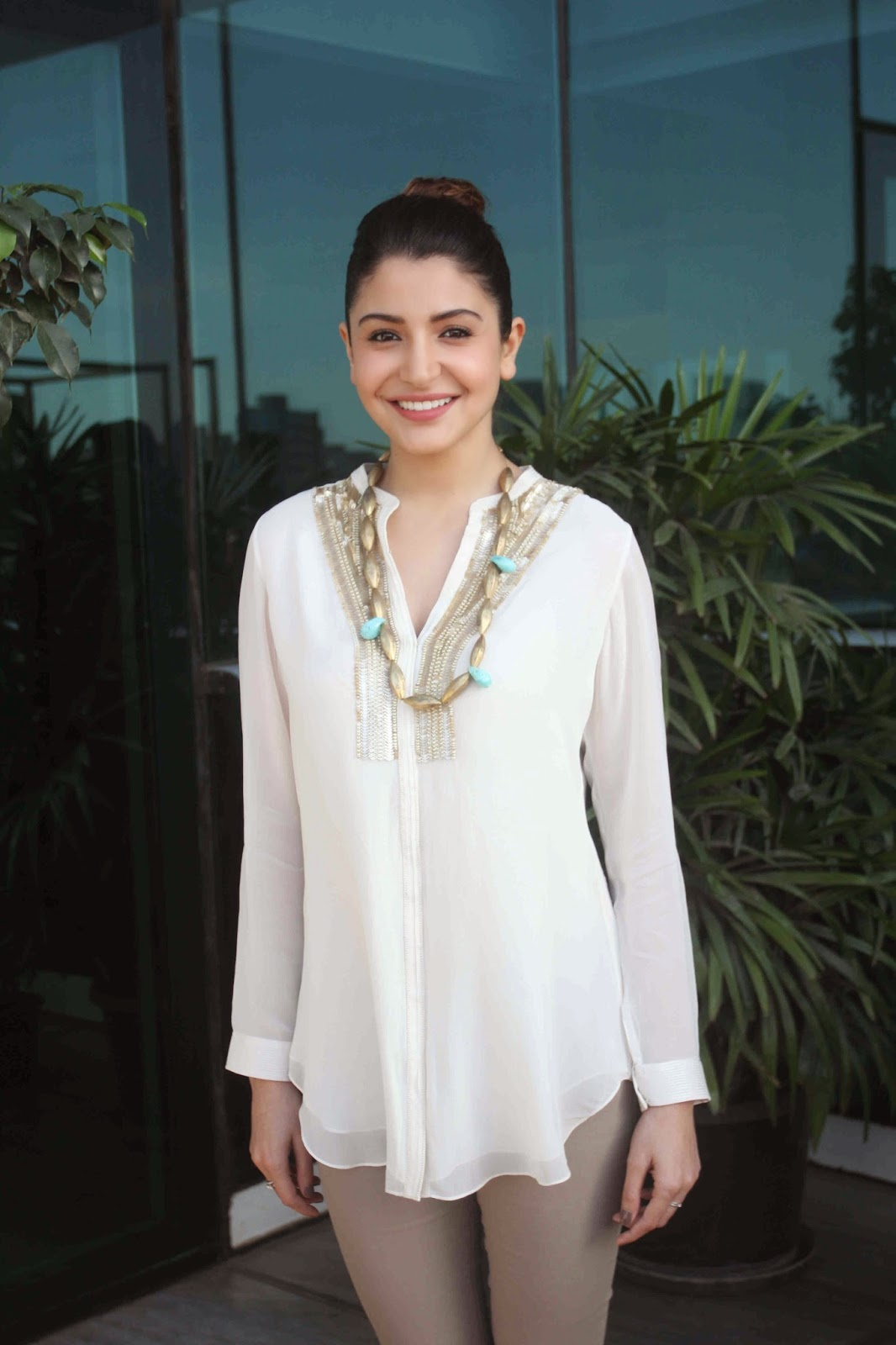 Indian Actress Anushka Sharma Hot Photoshoot In White Dress