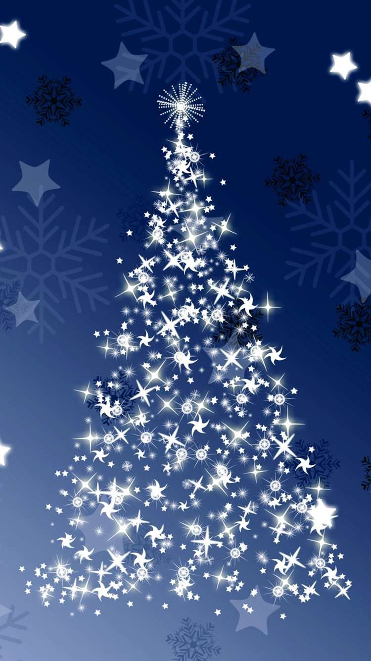 Merry Christmas Tree HD Wallpaper for iPhone