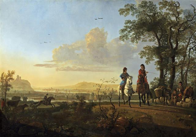 Альберт Кёйп - Всадники и пастухи со стадом. 1655-60