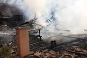 2 Rumah Hangus Terbakar di Kecamatan Bungbulang, Kabupaten Garut