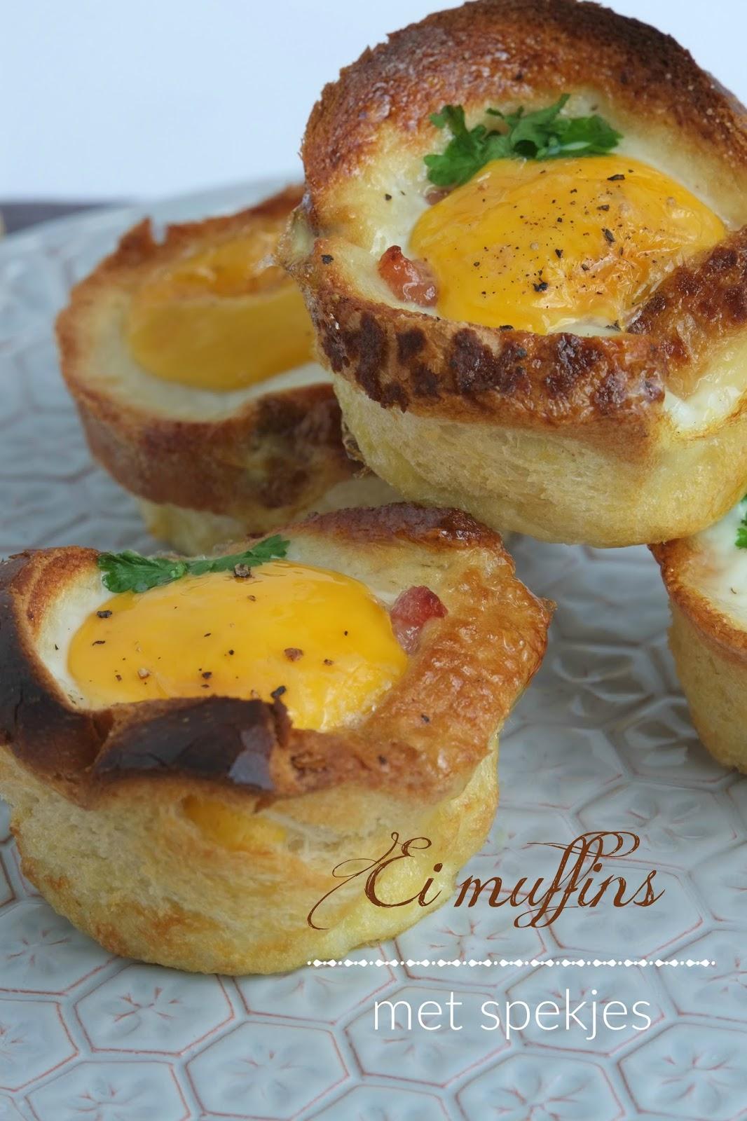 Ei muffins met spekjes -Hartige hapjes