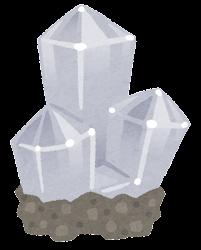 鉱石のイラスト(台座付き・透明)