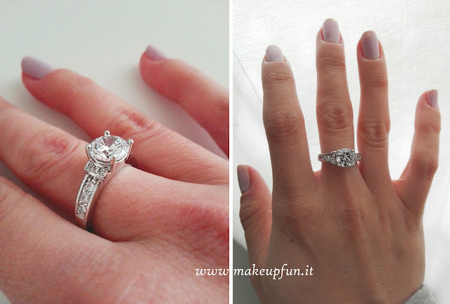 Fake Diamond White Gold Plated Ring