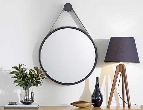 decoração espelho redondo