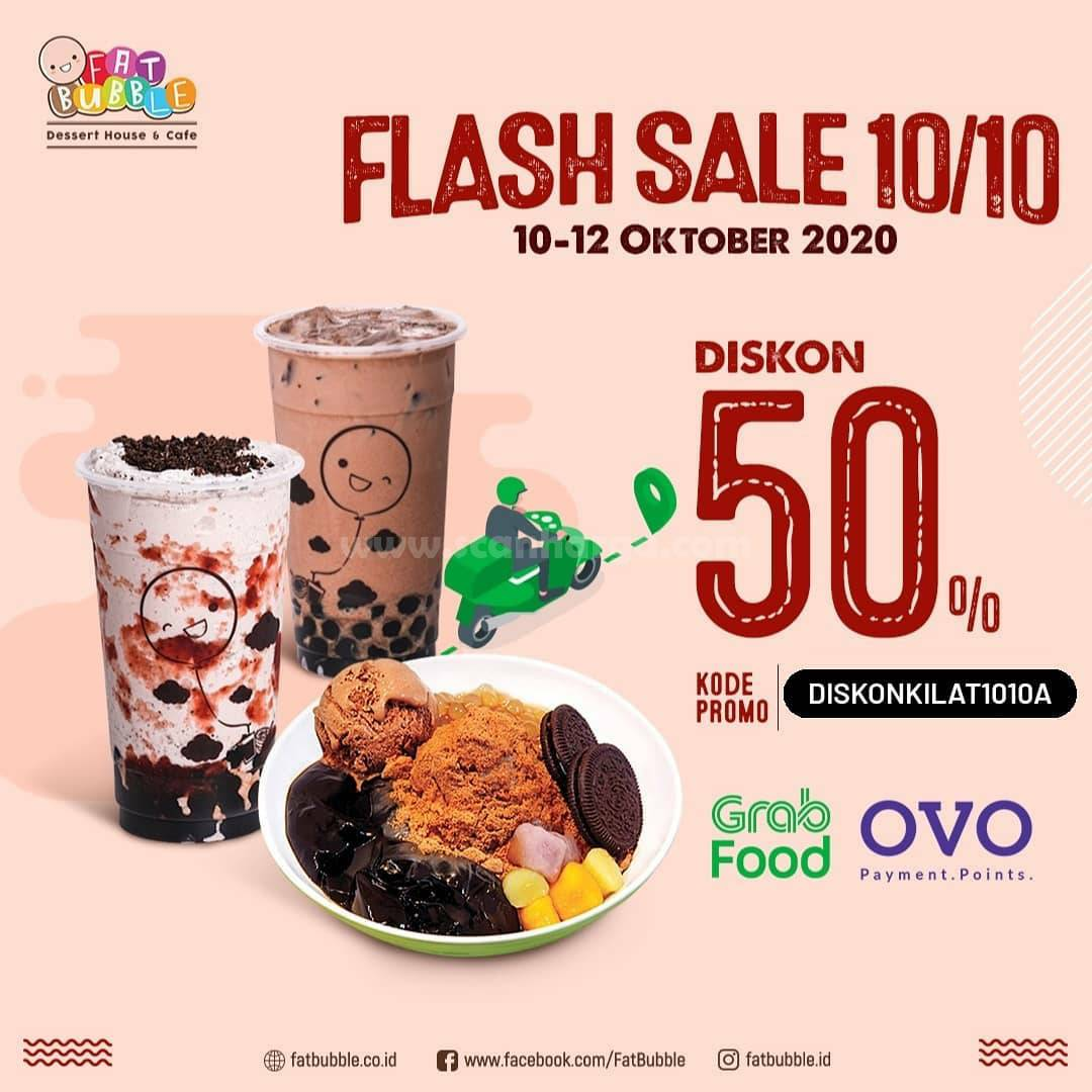 Fat Bubble Promo Grab Food Flash Sale 10.10