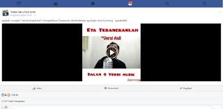 mengambil video di facebook