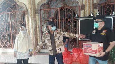 LMI Milenial Bersama Jajaran Dipimpin Hanny Pantouw, Berikan Bantuan Kepada Korban Banjir di Mesjid KH Arsyad Thawil Manado