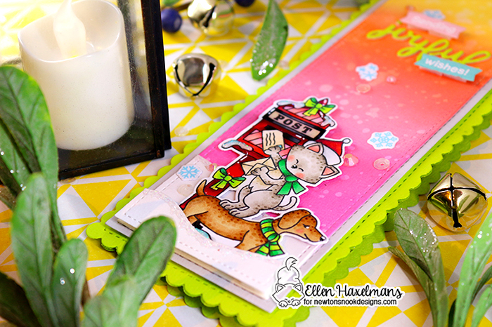 #newtonsnookdesigns #nnd #friendship #card #cardmaking #stamps #distress #ink #handmade #paper #craft #distressink #stamp #set #die #frames #& #flags #dies #DieSet #copicmarkers #copics #glitzglittergel #GinaKdesigns #ThermOWeb #hello #yellow #Screamin #green #stencil #Christmas #card #Holiday #Post #Christmas #Roundabout #Tiny #Trees #Reindeer #stencil
