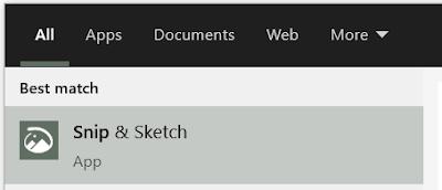 cara screenshoot layar di laptop dengan snip & sketch