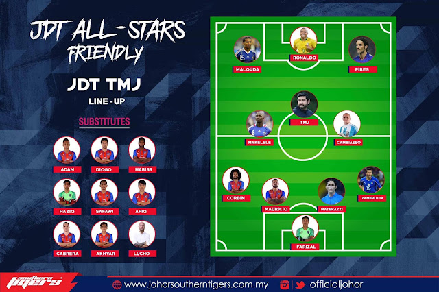 JDT All Stars Charity Match 30.6.2019