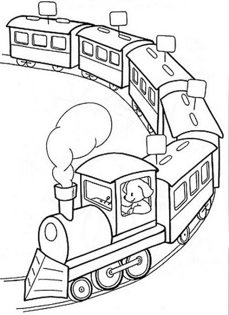 Hình tô màu đoàn tàu hỏa xinh
