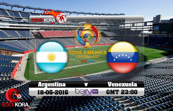 مشاهدة مباراة الأرجنتين وفنزويلا اليوم 19-6-2016 كوبا أمريكا