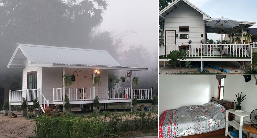 บ้านน็อคดาวน์ โทนสีขาวสวย ขนาดกะทัดรัด งบเพียง 2 แสน โดนใจมาก พื้นที่ใช้สอย พร้อมมุมสบายครบครัน