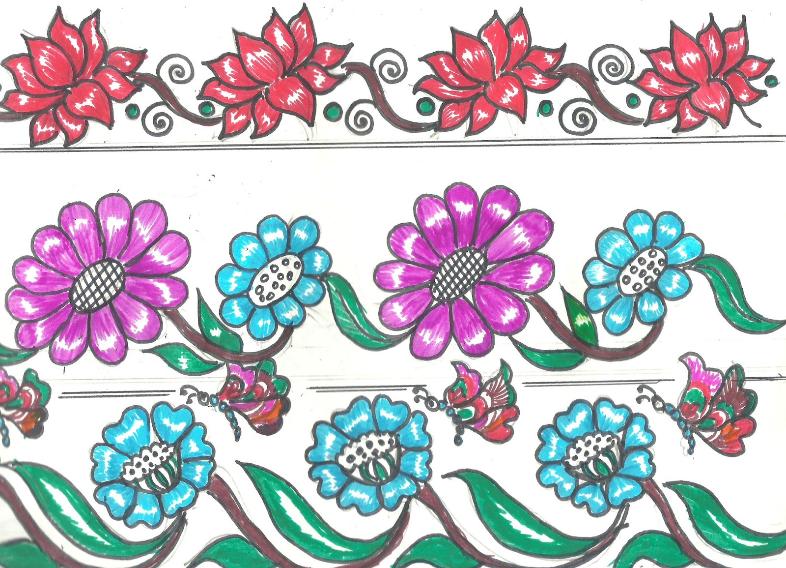 Latest Border Designs Karis Sticken Co
