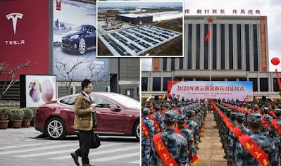 tesla dilarang masuk ke area militer china
