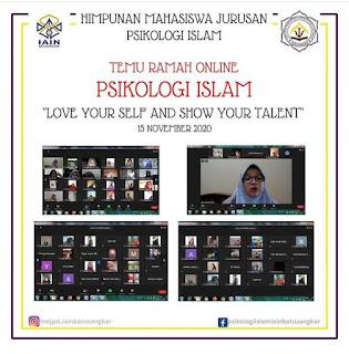 """Himpunan Mahasiswa Jurusan (HMJ) Psikologi Islam  Melaksanakan Kegiatan Temu Ramah secara Online dengan Tema : Love Your Self and Show Your Talent. Simak keseruannya"
