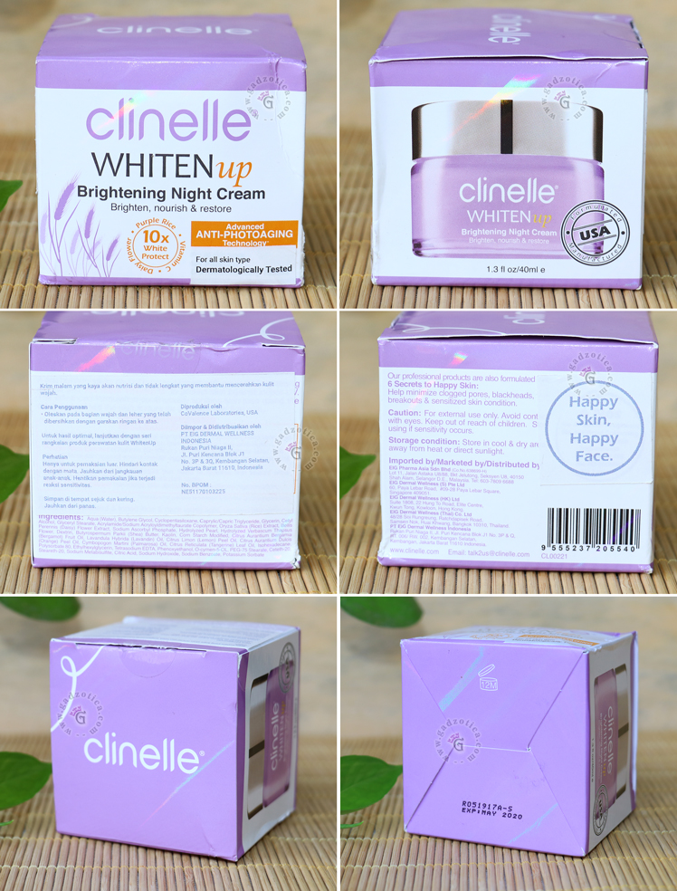 review CLINELLE WHITENUP BRIGHTENING NIGHT CREAM