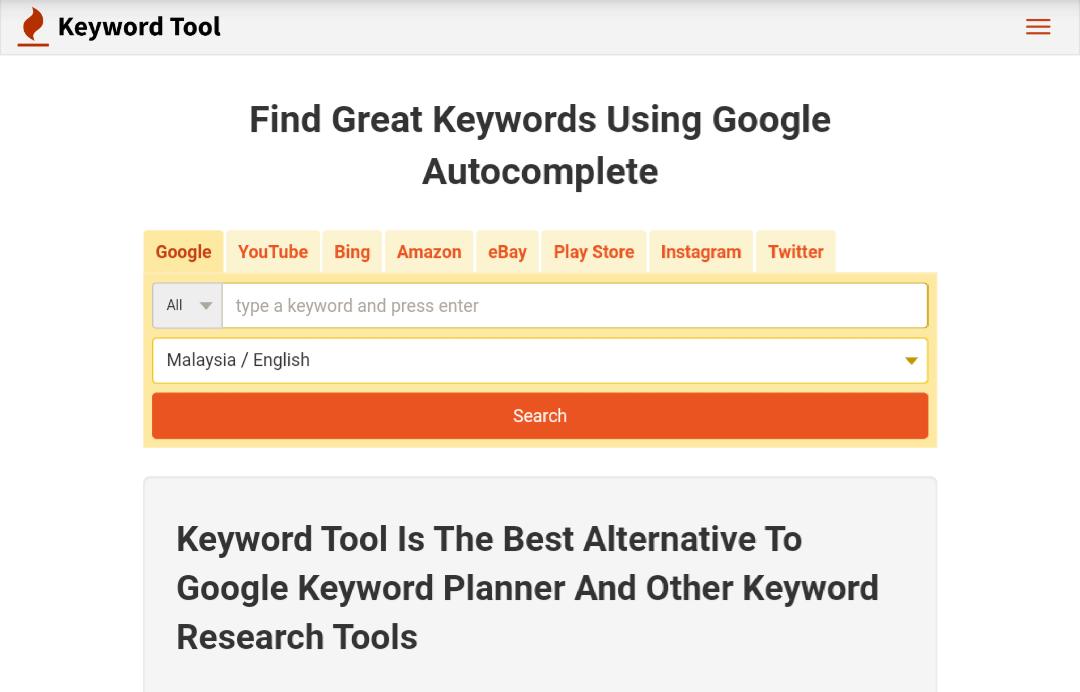 Reset keyword kata kunci blog
