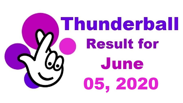 Thunderball Results for Friday, June 05, 2020
