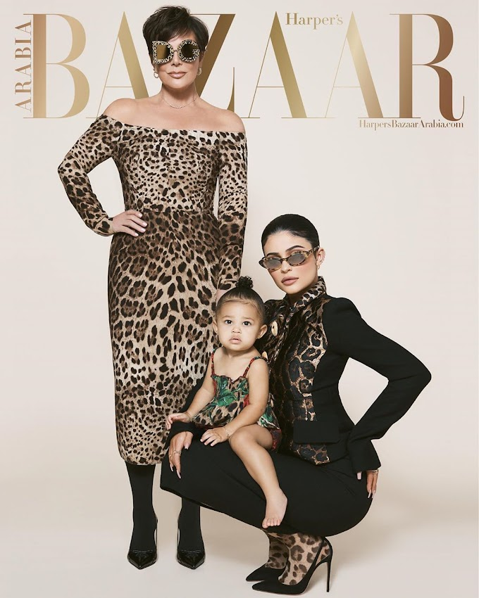 Check Out Kris Jenner, Kylie Jenner And #StormieWebster On The Cover Of The July/August @harpersbazaararabia Issue!