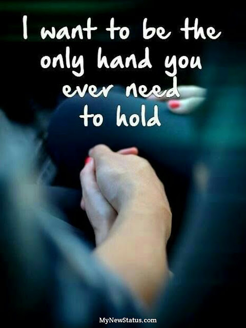 Love Quotes - I want to be the only hand you ever need to hold.