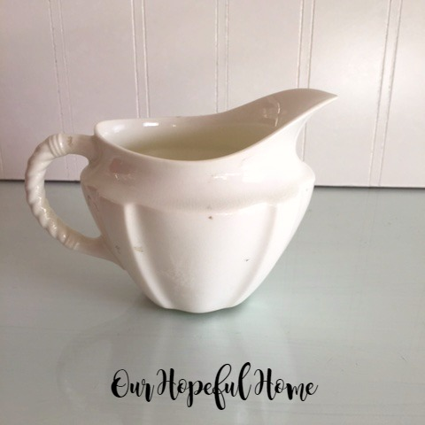Royal Crown Derby Surrey White Milk Jug Creamer thrifted,