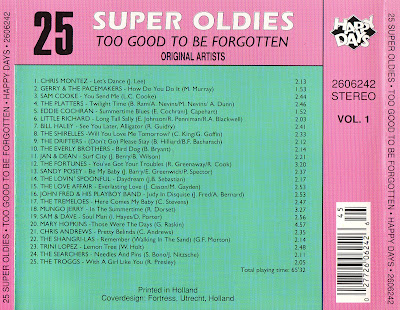 VA - 25 Super OldiesToo Good -To Be Forgott (Vol 1 - 1990)