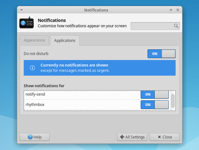 Xfce Gets A `Do Not Disturb` Mode And Per Application