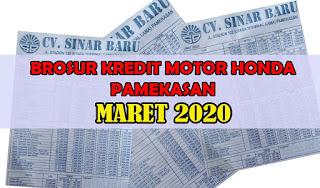 Brosur Kredit Motor Honda Pamekasan Maret 2020