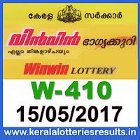 Keralalotteries, kerala lottery, keralalotteryresult, kerala lottery result, kerala lottery result live, kerala lottery results, kerala lottery today, kerala lottery result today, kerala lottery results today, kerala lottery result 15 5 2017 win-win lottery w 410