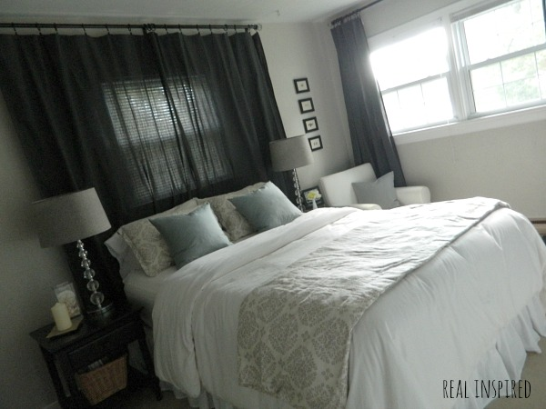 gray curtains bedroom