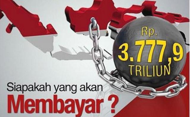Utang RI Mendekati Rp. 4000 Triliun
