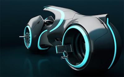 Moto tron modelado 3D