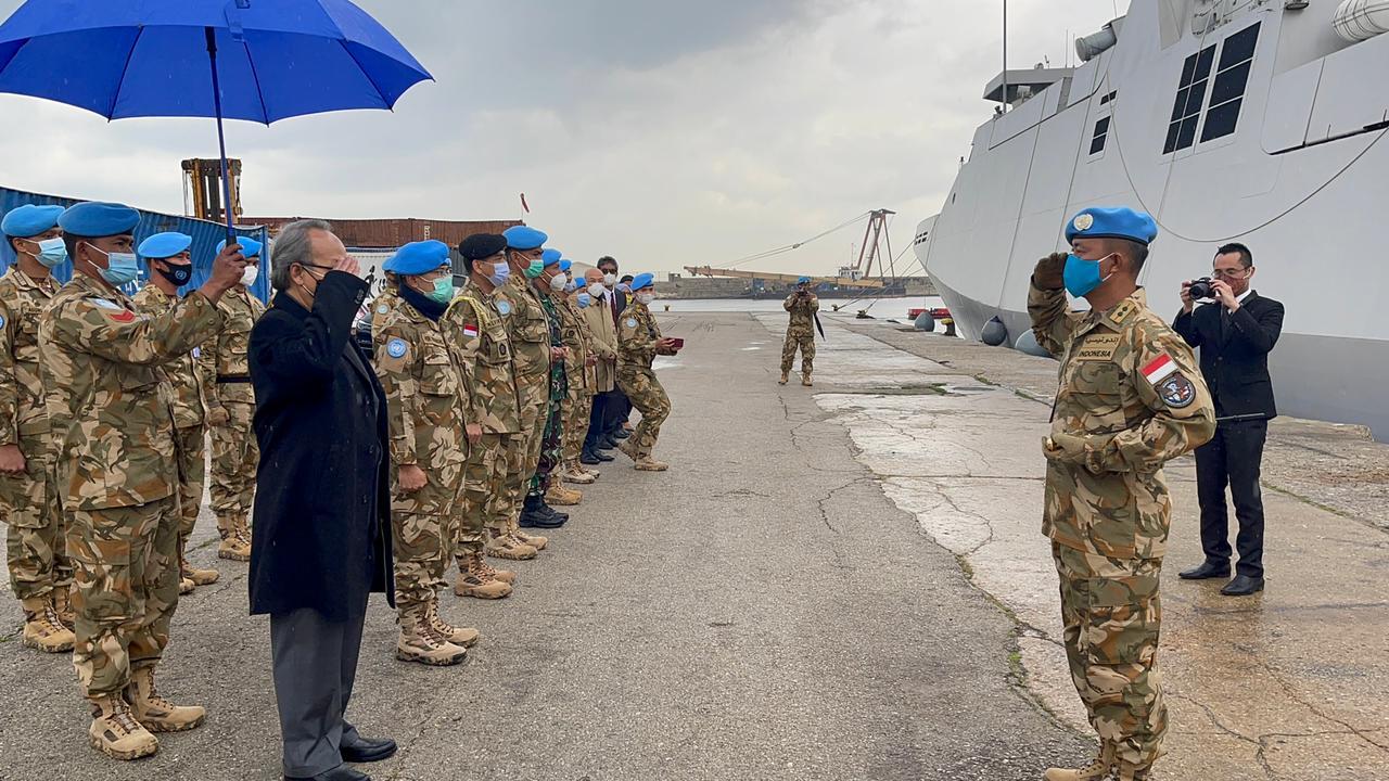 KRI Sultan Iskandar Muda Tiba di Lebanon untuk Misi Perdamaian
