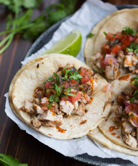 GRILLED CHICKEN STREET TACOS #dinner #tacos #chicken #healthy #easy