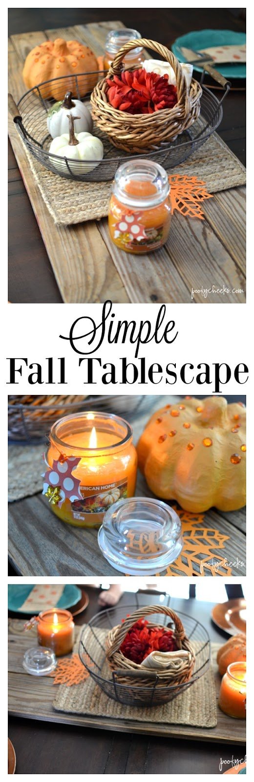 A Simple Fall Tablescape complete with Fall Fragrances